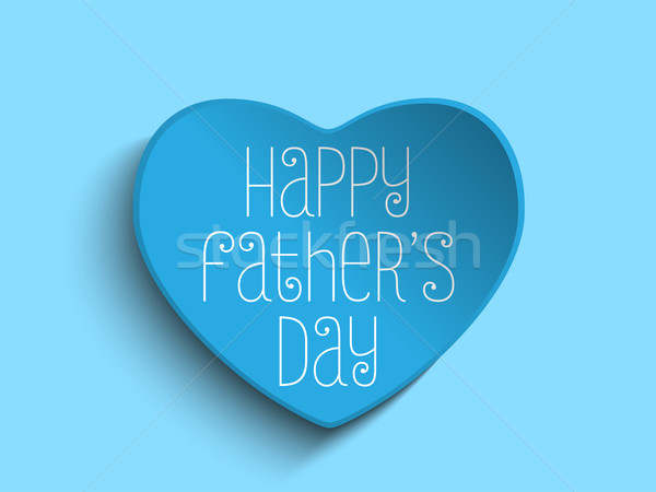 Happy Fathers Day Blue Heart Background Stock photo © gubh83