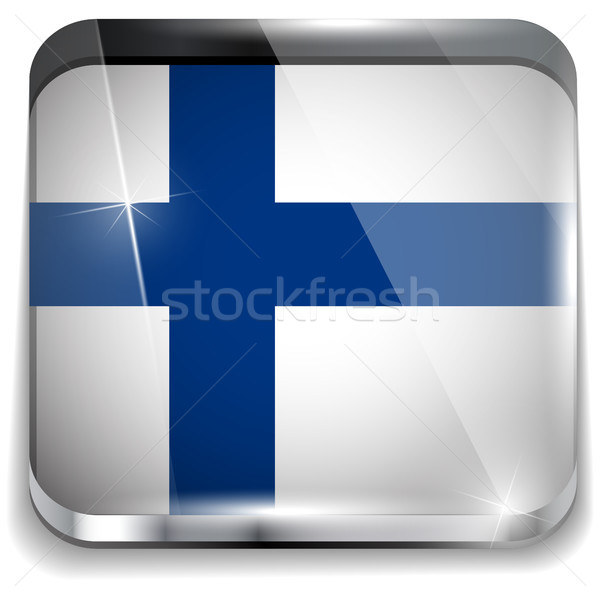Finland Flag Smartphone Application Square Buttons Stock photo © gubh83