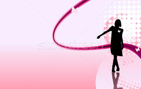 Kız bacaklar güzel siluet kadın parti Stok fotoğraf © gubh83