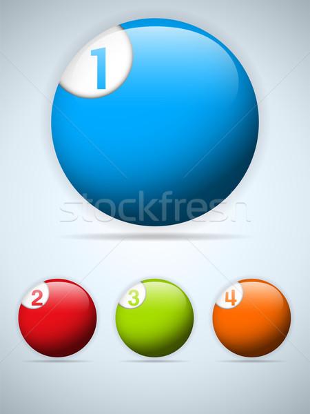 Ingesteld kleurrijk knoppen iconen vector vier Stockfoto © gubh83