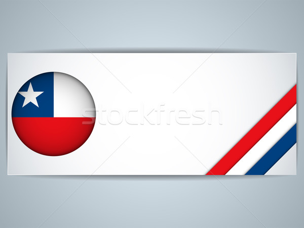 Chile Country Set of Banners Stock photo © gubh83