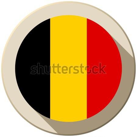 Bélgica bandera botón icono moderna vector Foto stock © gubh83