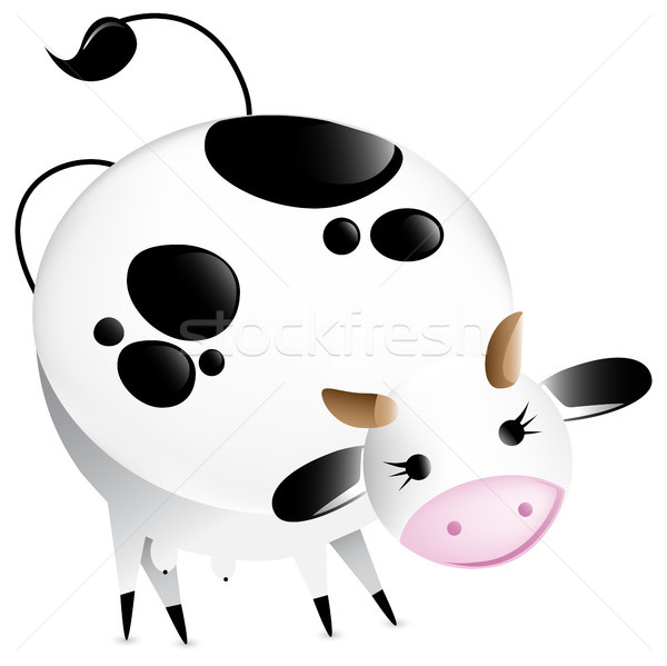 Cute vector glossy cow Stock photo © gubh83