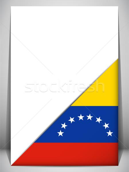 Venezuela vidék zászló oldal felirat utazás Stock fotó © gubh83