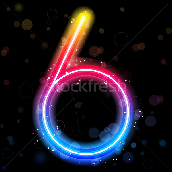 Number Rainbow Lights  Glitter with Sparkles Stock photo © gubh83