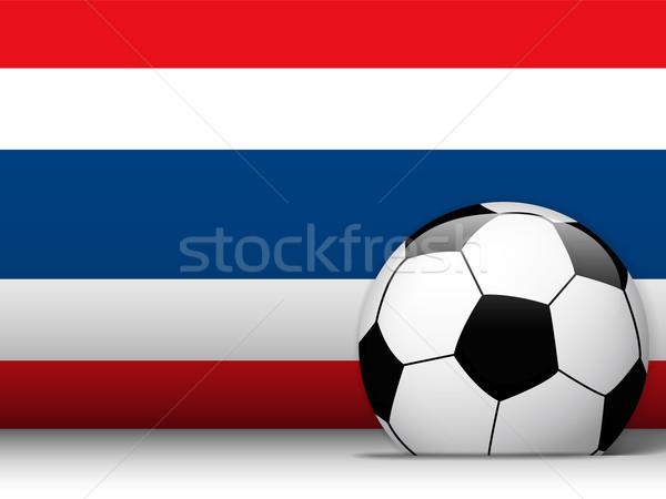 Tayland futbol topu bayrak vektör dizayn dünya Stok fotoğraf © gubh83