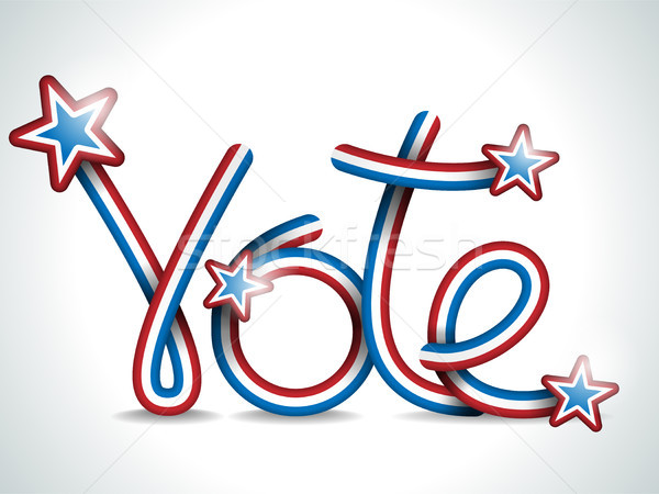 Vote USA Presidential Election Ribbon Stock photo © gubh83