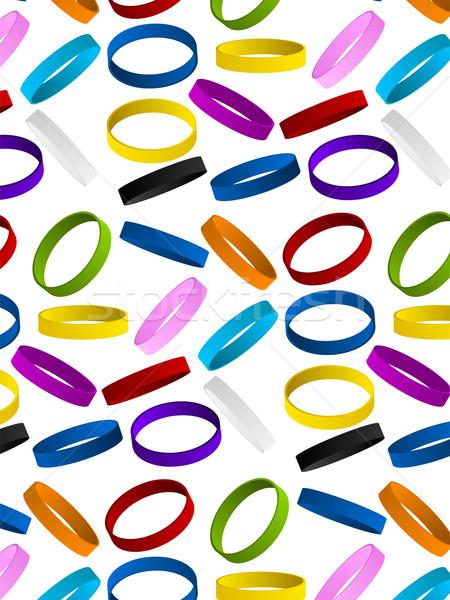резиновые браслет вектора текстуры Сток-фото © gubh83