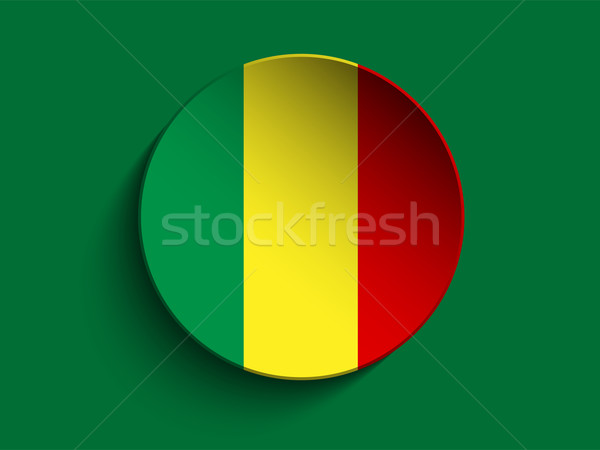 Mali bandeira papel círculo sombra botão Foto stock © gubh83