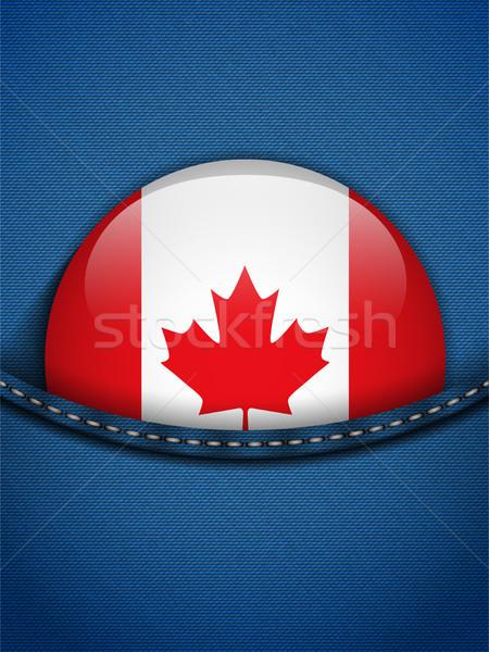 Kanada bayrak düğme kot cep vektör Stok fotoğraf © gubh83