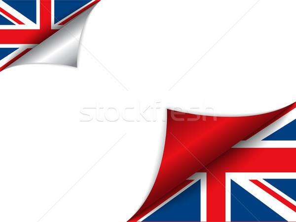 Zdjęcia stock: Zjednoczone · Królestwo · kraju · banderą · strona · wektora · podpisania