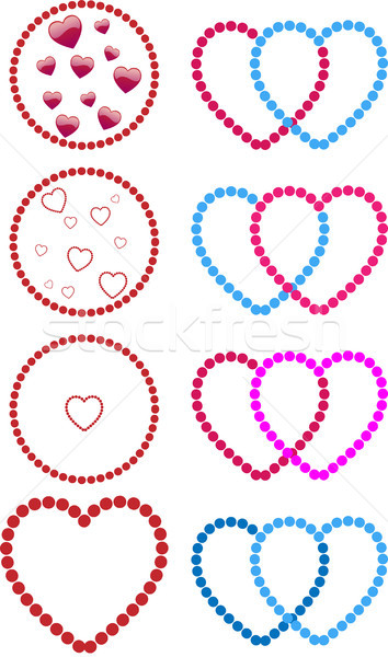 Hearts made of dots Stock photo © gubh83