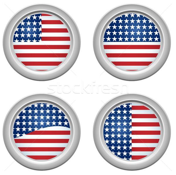 USA gwiazdki przyciski czwarty Zdjęcia stock © gubh83