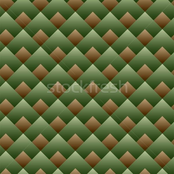 Wektora bezszwowy placu wzór zielone zestaw Zdjęcia stock © gubh83
