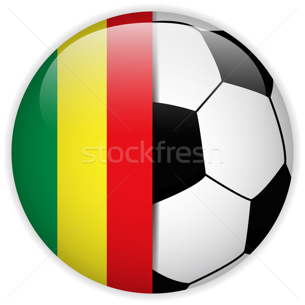 Mali Flag with Soccer Ball Background Stock photo © gubh83