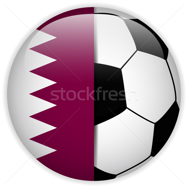 Qatar pavillon ballon vecteur monde football Photo stock © gubh83