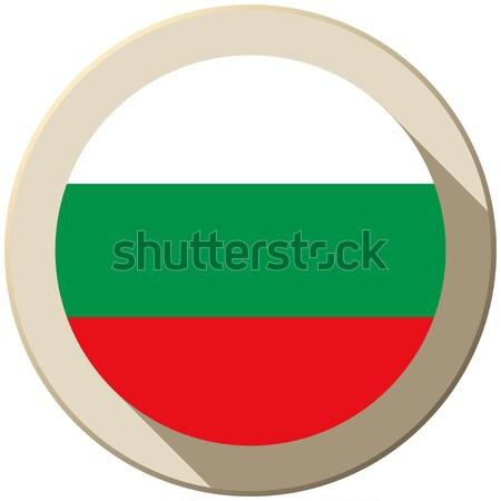 Bulgarije vlag knop icon moderne vector Stockfoto © gubh83