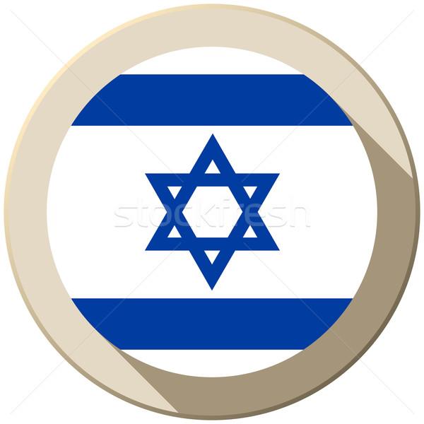 Israel Flag Button Icon Modern Stock photo © gubh83