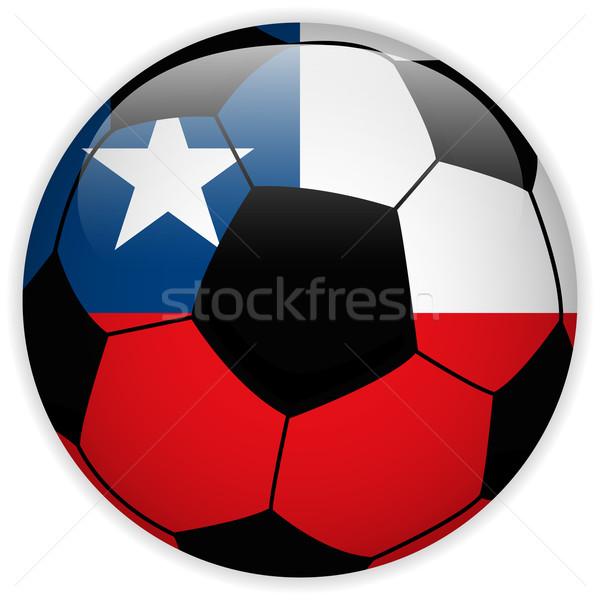 Chile bandera balón de fútbol vector mundo fútbol Foto stock © gubh83