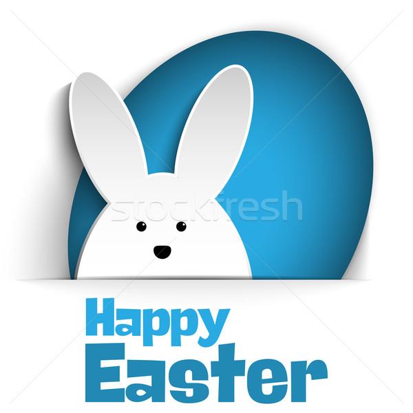 Feliz pascua conejo vacaciones blanco vector papel Foto stock © gubh83