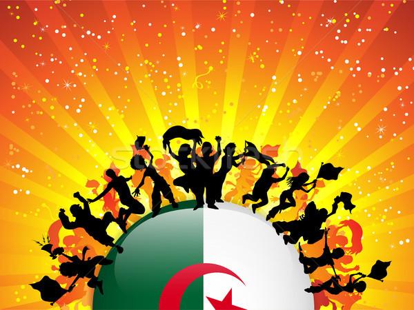 Алжир спорт вентилятор толпа флаг вектора Сток-фото © gubh83