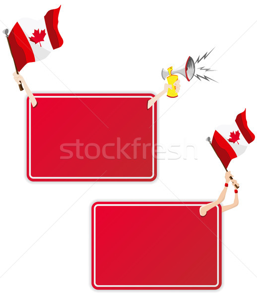 Canada Sport Message Frame with Flag. Set of Two Stock photo © gubh83