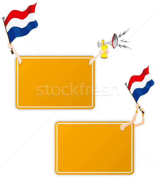 Dutch Sport Message Frame with Flag. Set of Two Stock photo © gubh83