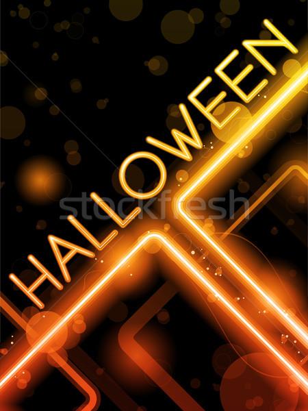 Halloween neon party vettore design sfondo Foto d'archivio © gubh83