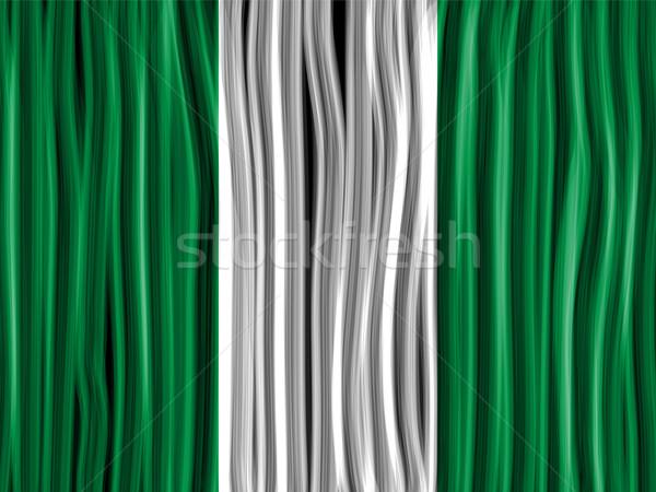Nigéria bandeira onda tecido textura vetor Foto stock © gubh83