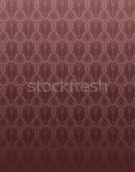 красный ретро дамаст цветок вектор цветок Сток-фото © gubh83
