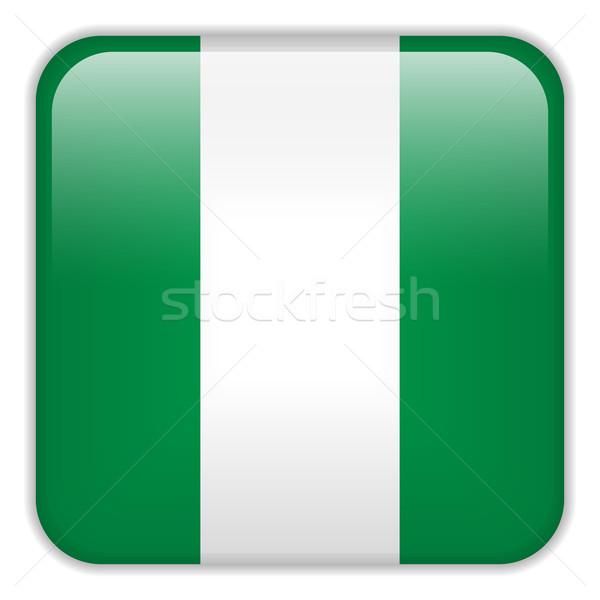 ナイジェリア フラグ スマートフォン アプリケーション 広場 ボタン ストックフォト © gubh83