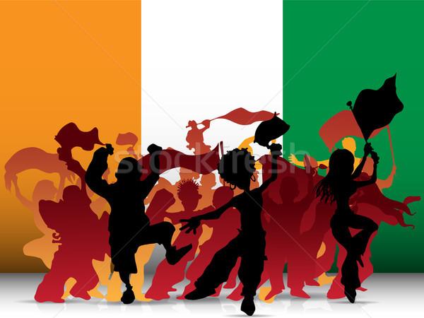 Ireland Sport Fan Crowd with Flag Stock photo © gubh83