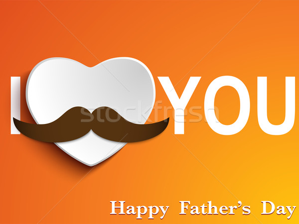 Stock photo: Happy Father Day Mustache Love