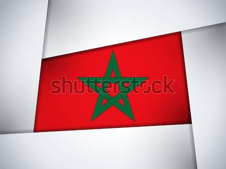 モロッコ 国 フラグ 幾何学的な ベクトル ビジネス ストックフォト © gubh83