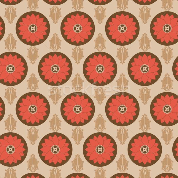 Senza soluzione di continuità modello di fiore colorato set vettore texture Foto d'archivio © gubh83