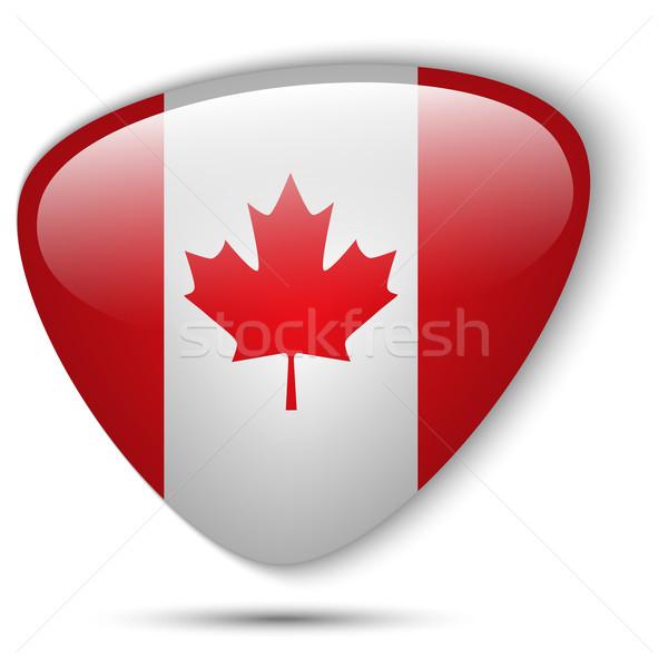カナダ フラグ ボタン ベクトル ガラス ストックフォト © gubh83