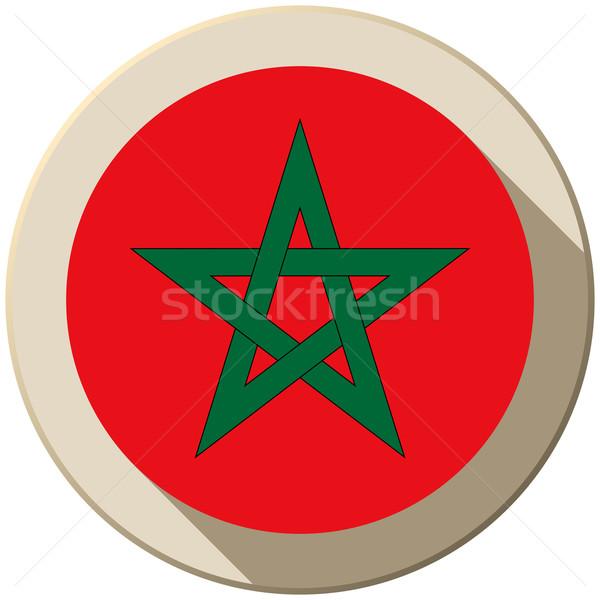 モロッコ フラグ ボタン アイコン 現代 ベクトル ストックフォト © gubh83