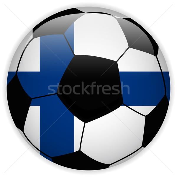 Finlande pavillon ballon vecteur monde football Photo stock © gubh83