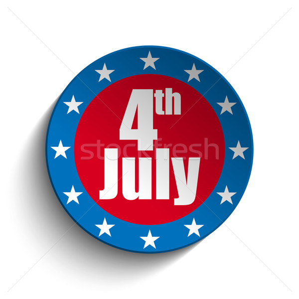 United States Independence Day Button Stock photo © gubh83