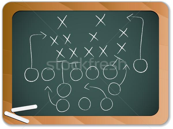 Trabalho em equipe jogo de futebol plano estratégia lousa vetor Foto stock © gubh83