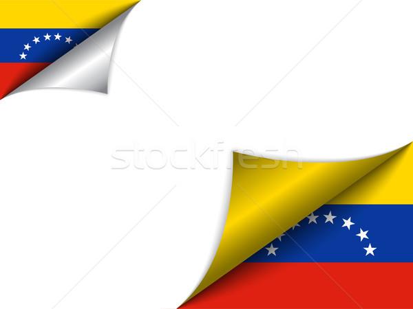 Venezuela país bandeira página vetor assinar Foto stock © gubh83