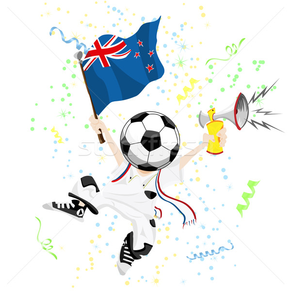 New Zealand voetbal fan bal hoofd Stockfoto © gubh83