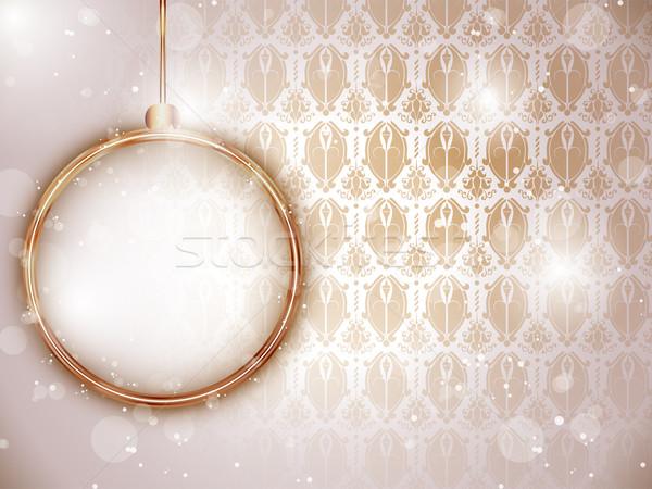 Vrolijk christmas goud retro vector Stockfoto © gubh83