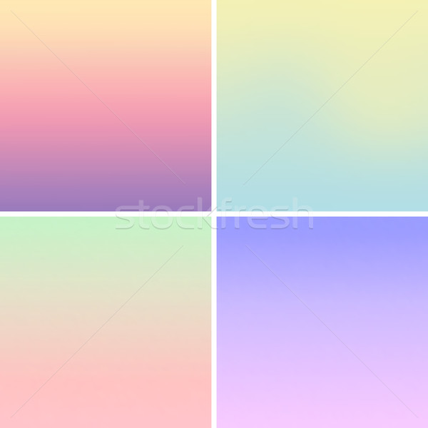 Blurred Mesh Gradient Background Pastel Colors Vector