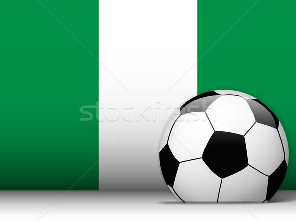 Nigéria futebol bandeira vetor projeto mundo Foto stock © gubh83