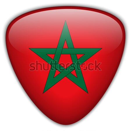 Morocco Flag Glossy Button Stock photo © gubh83