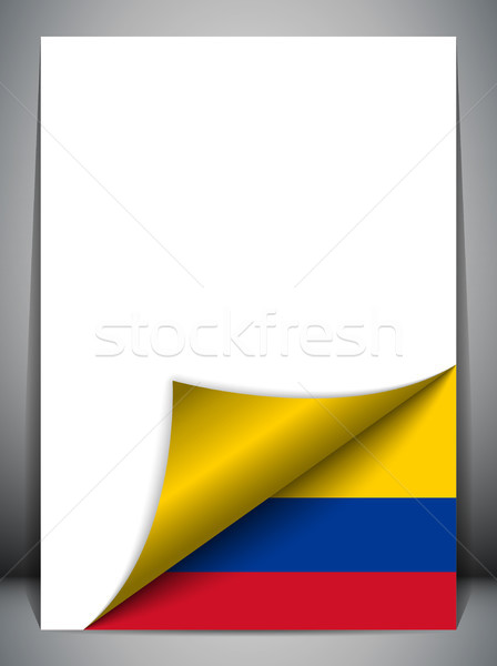Colombia vidék zászló oldal vektor felirat Stock fotó © gubh83