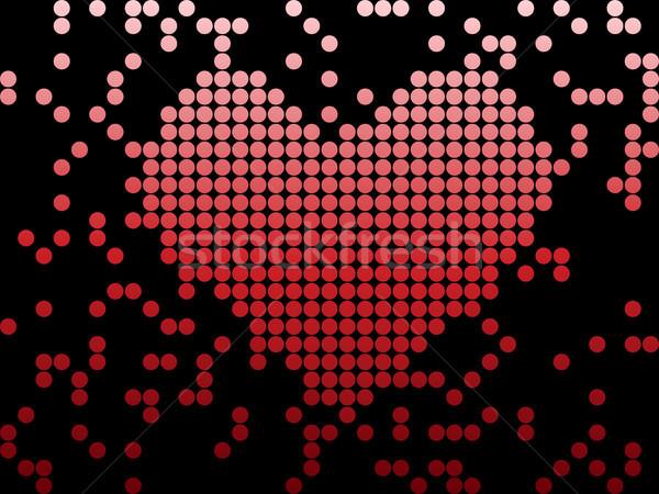 Digitale amore san valentino cuore vettore Foto d'archivio © gubh83