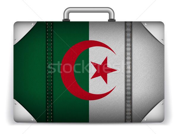 Алжир путешествия Камера флаг отпуск вектора Сток-фото © gubh83