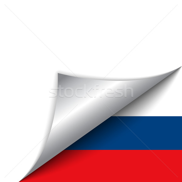Rusya ülke bayrak sayfa vektör imzalamak Stok fotoğraf © gubh83